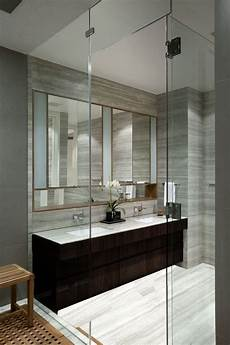 Light Grey Marble Bathroom Gray Marble Wall Dark Cabinet Light Gray Marble