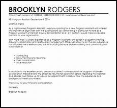 Cover Letter Sample For Program Assistant Program Assistant Cover Letter Sample Cover Letter