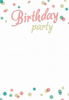 Blank Birthday Invitation Templates Birthday Party Invitation Template Blank Birthday Party