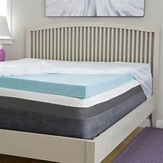 slumber 4 inch gel memory foam topper with
