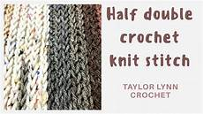 half crochet knit stitch