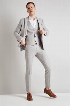 Light Grey Linen Suit Moss London Slim Fit Light Grey Linen Cotton Jacket