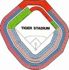 Detroit Tigers Seating Chart With Rows Quot Tiger Stadium Seating Chart Quot By Downwithdetroit Redbubble