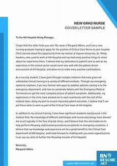 New Graduate Nurse Cover Letters New Graduate Nurse Cover Letter Example Sample Cover Letter