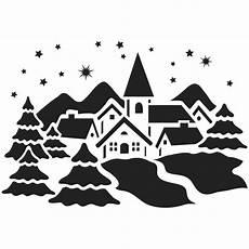 Vorlagen Fensterbilder Weihnachten Schneespray Fenster Kunststoff Schablone Din A4 Winterdorf