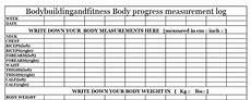 Bodybuilding Printable Logs Downloads Bodybuilding And Fitness
