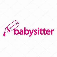 Babysitting Signs Flat Icon Of Logo Babysitter Stock Vector