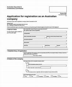 Company Application Form Free 30 Sample Registration Forms Pdf