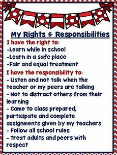 Student Rights And Responsibilities Students Rights Amp Responsibilities By The Laminating Co