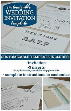 Customizable Invitation Customizable Wedding Invitation Template With Inserts