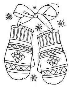 a lovely winter mittens gift coloring page