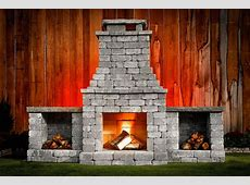 "DIY Outdoor Fireplace Kit ""Fremont"" makes hardscaping"