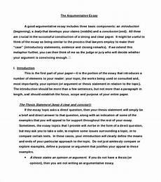 Argumentative Essay Sample 8 Argumentative Essay Examples Free Amp Premium Templates