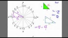 Unit Circle With Tangents Finding Exact Tangent And Cotangent Values Unit Circle
