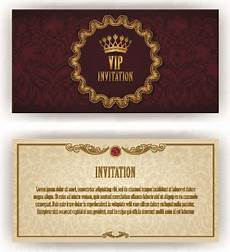 Luxurious Vip Invitation Cards Vector Free Vector In