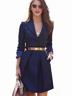 dressy clothes for v neck dress navy blue office ol split