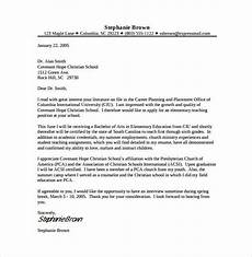 Cover Letter Template For Teacher 8 Teacher Cover Letter Templates Free Sample Example