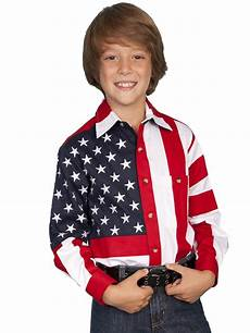 american flag clothes childrens patriotic western shirt white and blue button