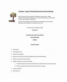 Template Of An Agenda 15 Committee Meeting Agenda Templates Free Sample