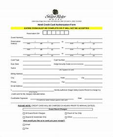 Hotel Credit Card Authorization Form Free 13 Sample Credit Card Authorization Forms In Pdf