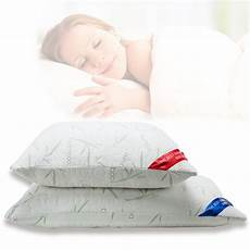 2 pack bamboo memory foam bed pillow king size
