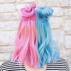 Half Pink Half Blue Split Hair Color Ideas And Tips