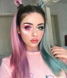 Half Pink Half Blue Half Pink Amp Half Blue Repost Ombrehair Makeup
