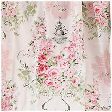 shabby chic 100 cotton pink peony in light blue