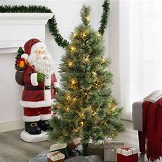 Fake Christmas Tree With Lights 4 Ft Pre Lit Canadian Cashmere Christmas Artificial Fake