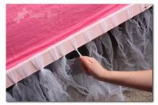 bed tutu with images diy bed skirt tulle bedskirt