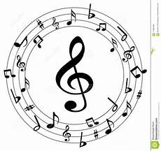 Music Note Logo Music Notes Round Logo Stock Vector Illustration Of