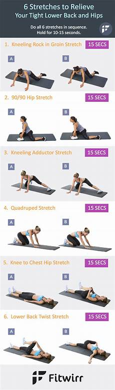 Lower Back Stretches Chart 6 Stretches To Relieve Your Tight Lower Back And Hips