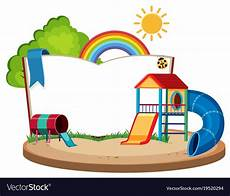 Playground Templates Book Template With Slides In The Playground Vector Image