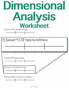 Dimensional Analysis Chart Customizable And Printable Dimensional Analysis Worksheet