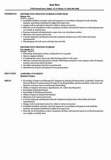 Resume The Process Process Worker Resume Samples Velvet Jobs