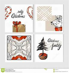 Collection Of Hand Drawn Greetings Words Hand Drawn Vector Abstract Merry Christmas Greeting Cards