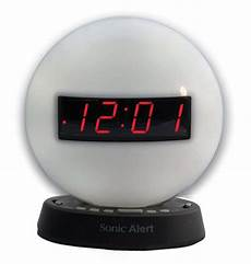 Izoom Ready Light Maxiaids The Sonic Glow Alarm Clock With Recordable