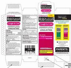 Robitussin Pediatric Dosage Chart Childrens Robitussin Cough And Cold Long Acting Liquid