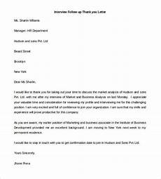 Template Thank You Letter Interview Thank You Letter For Sending Documents