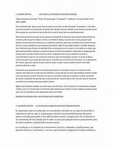 Formato De Informe Escrito Informe Escrito Rese 241 A Critica