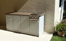 weatherproof outdoor side burner grill cabinet design