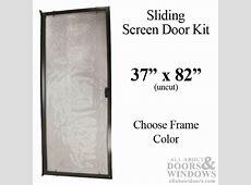 """Sliding Screen Door Kit, 37"""" x 82"""" Aluminum Frame   Choose"""