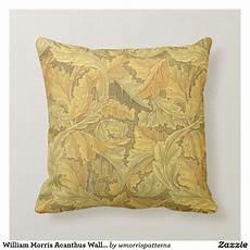 william morris acanthus wallpaper throw pillow zazzle