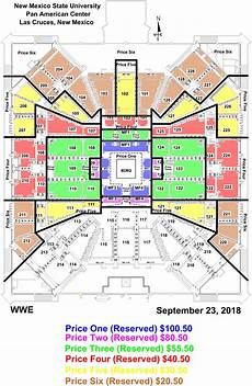 Pan Am Center Las Cruces Seating Chart Las Cruces Card Update For Wwe Live Experience Pan Am