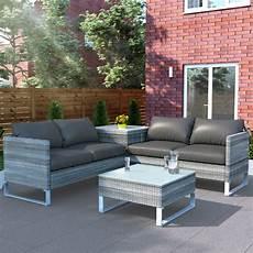 rattan outdoor corner sofa set with storage billyoh salerno