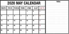 2020 Calendar Pdf Download Free Blank May 2020 Printable Calendar Pdf