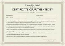 Make A Certificate Of Authenticity Printable Authenticity Certificate Design Template In Psd
