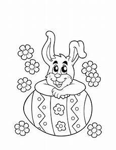 Ausmalbilder Ostern Ei Kostenlose Ausmalbilder Ostern Osterhase Lehnt Auf Ei