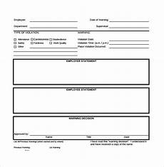Template For Write Up On Employees Free 7 Sample Employee Write Up Forms In Pdf