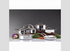 Kirkland Signature 13 pc Tri Ply Clad Stainless Steel